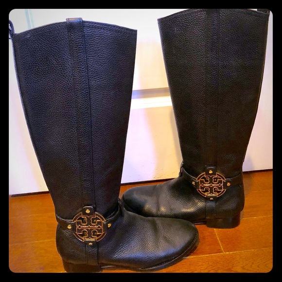 "87929111813b Tory Burch ""Amanda"" Leather Riding Boots. M 5a526e6c45b30cfc440184d4"
